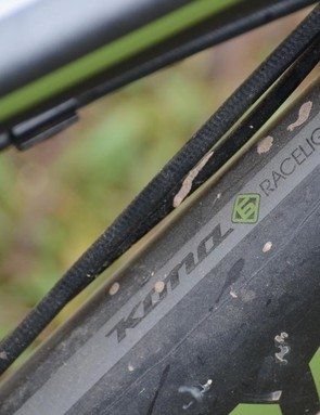 The carbon says 'Race Light', the bike's capability said 'trail ripper'