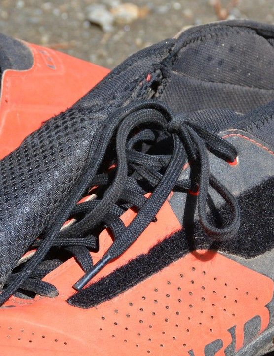 Lace covers serve double duty: they keep the laces clean and your feet dry