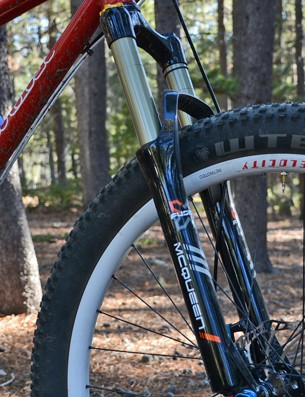 The X-Fusion McQueen fork is a under appreciated workhorse with high- and low-speed compression adjustments