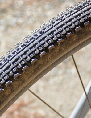 The file center tread keeps the rolling easy while the siped side knobs work hard in the bends