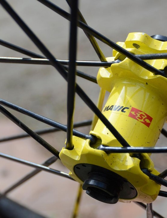Mavic's long-running QRM hubs feature straight-pull lacing
