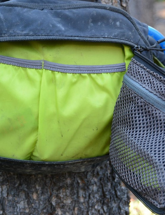 The inside shows off CamelBak's renowned storage with plenty of smartly laid-out pockets and bright interior