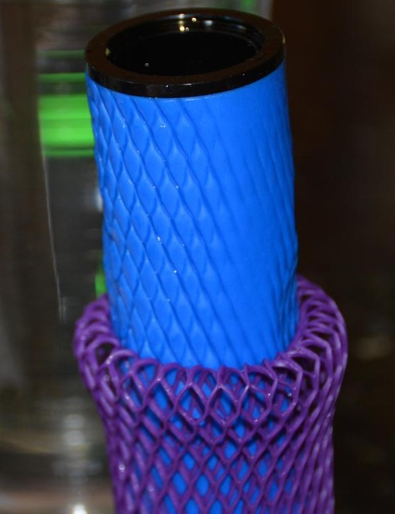 Diamond waffling is the result of the mesh netting