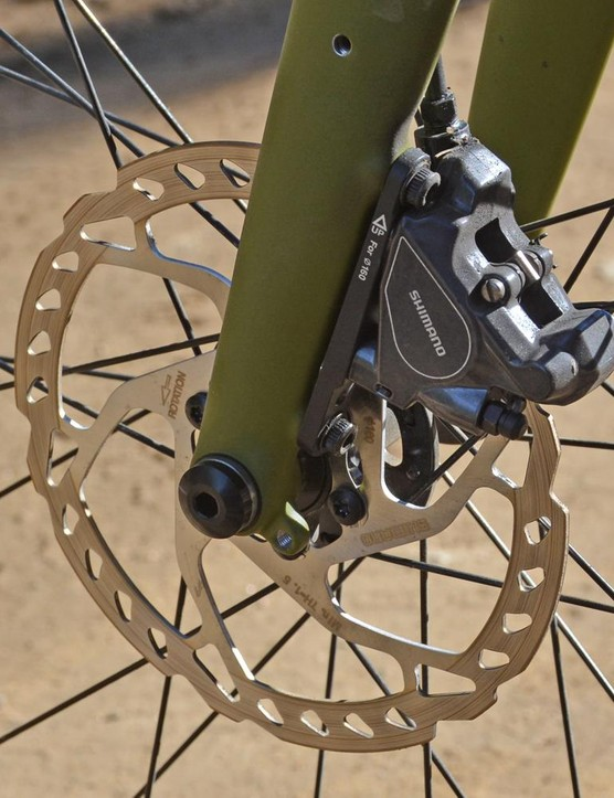 Flat mount takes care of the front disc caliper