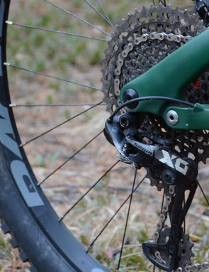 There's little room for want with the SRAM X0 Eagle 11-speed drivetrain