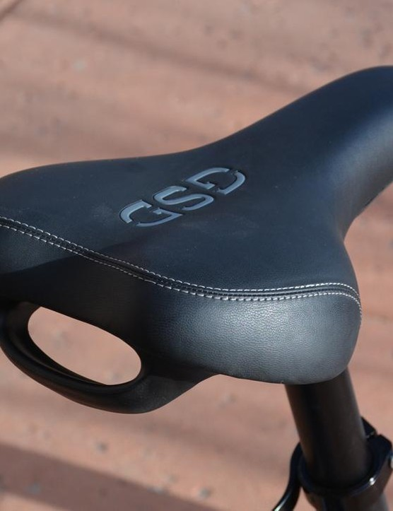 The big, cushy saddle has a very useful handle
