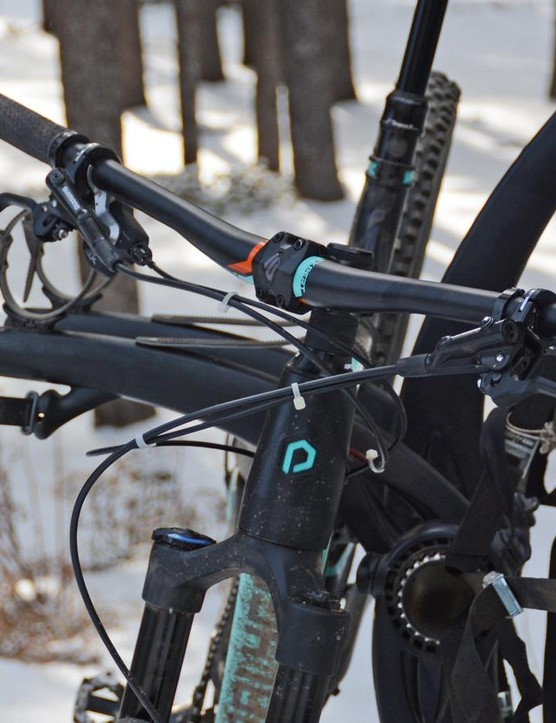 The bane of trunk racks are new-school mountain bikes. The bars hit the vehicle when the bike is on the inner cradle
