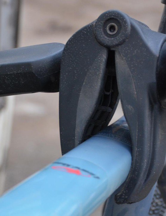 The clamps can spin in any direction to enable clamping top, down or seat tubes