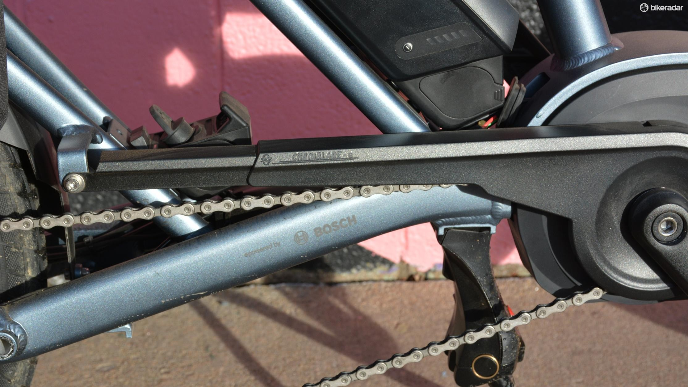 Tern seemingly thought of everything on the GSD, the chainguard is one small example