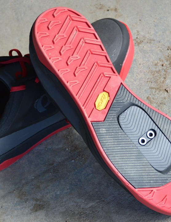 Good riddance to the hard plastic soles of the past, Vibram Megagrip soles are off-the-bike-friendly