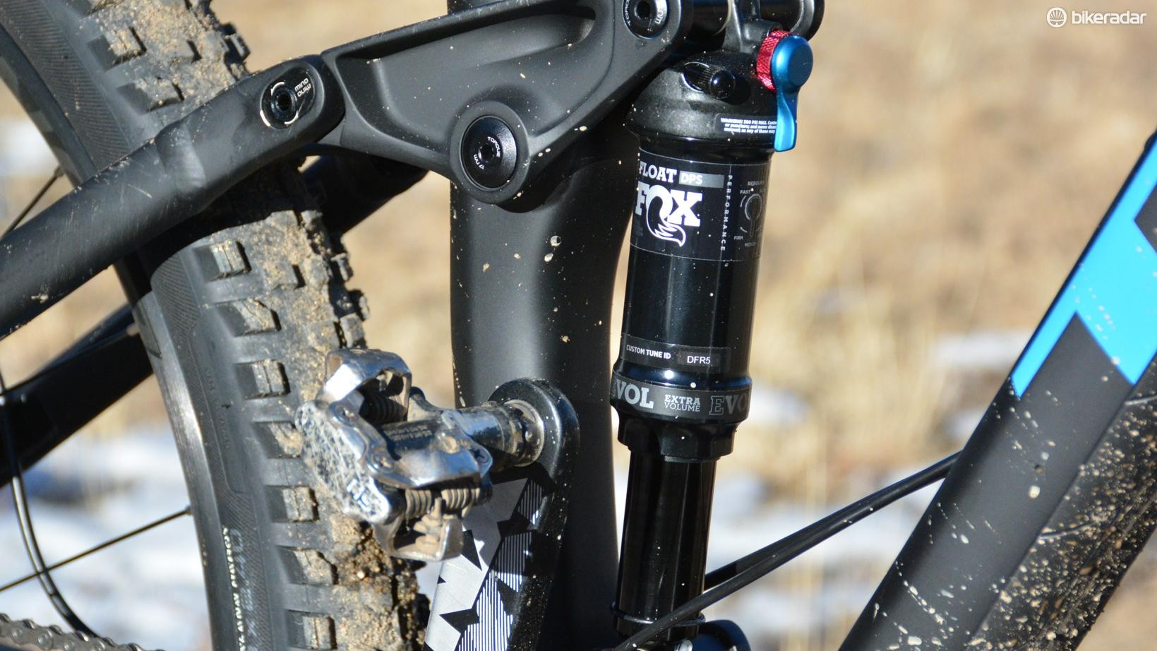 Trek's Suspension Lab has set the Fox Float damper tune and it worked beautifully throughout the 130mm travel