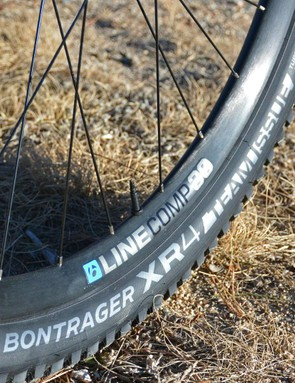 Bontrager's Line Comp 30 wheels spread 29mm wide and set up tubeless with ease. Very impressive stuff for a price-conscious build