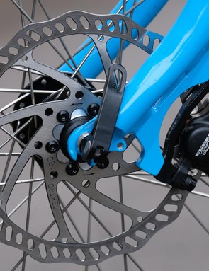 The Tektro Auriga hydraulic disc brakes didn't miss a beat