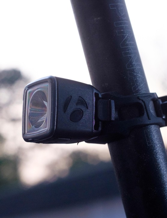 The hardware for the rear light is angled for maximum effect