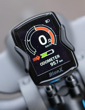 The screen means riders can quickly dial between electronic assistance and regenerative braking settings