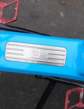 A removable plastic cover provides access to the battery pack