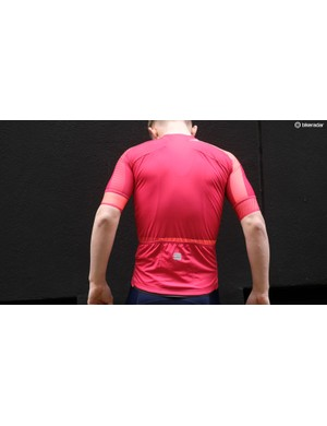 Each of the BodyFit Pro jerseys feature the same panel design to the rear, albeit with different materials