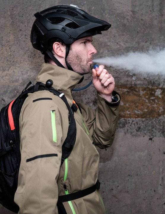 The TokeTank is pitched at those who don't want riding to interrupt their vaping