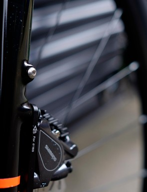 Mudguard mounts at the front...