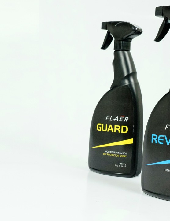 Flaer's two-product system aims to clean and protect your bike's paint finish