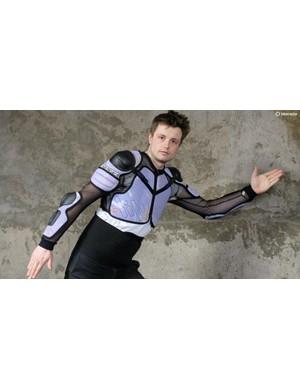 BikeRadar's Jack Luke posing in Rudy Project armour from Dainese