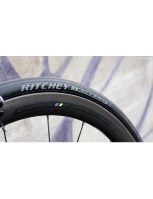 Ritchey's WCS Apex Carbon 38mm clincher wheels wrapped in the company's own WCS Race Slick tyres