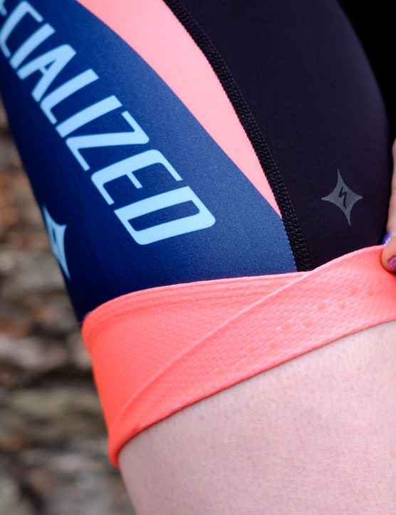 The hems on the legs are constructed from a soft folded Lycra backed with grippy silicone dots