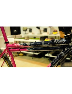 Silca was giving an award for the best integration of its products into custom bikes. As a result, painted-to-match Impero Ultimate Frame Pumps were everywhere
