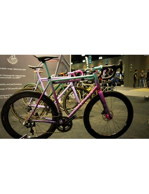 Stinner Frameworks was showing off this 1980s-inspired Gibraltar Disc at the Campy booth