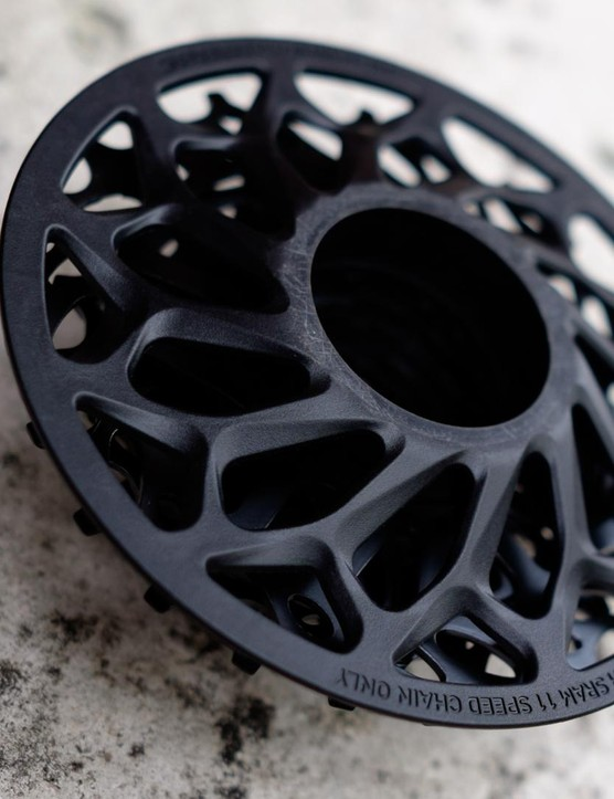 The rear of SRAM's PG-720 7-speed cassette