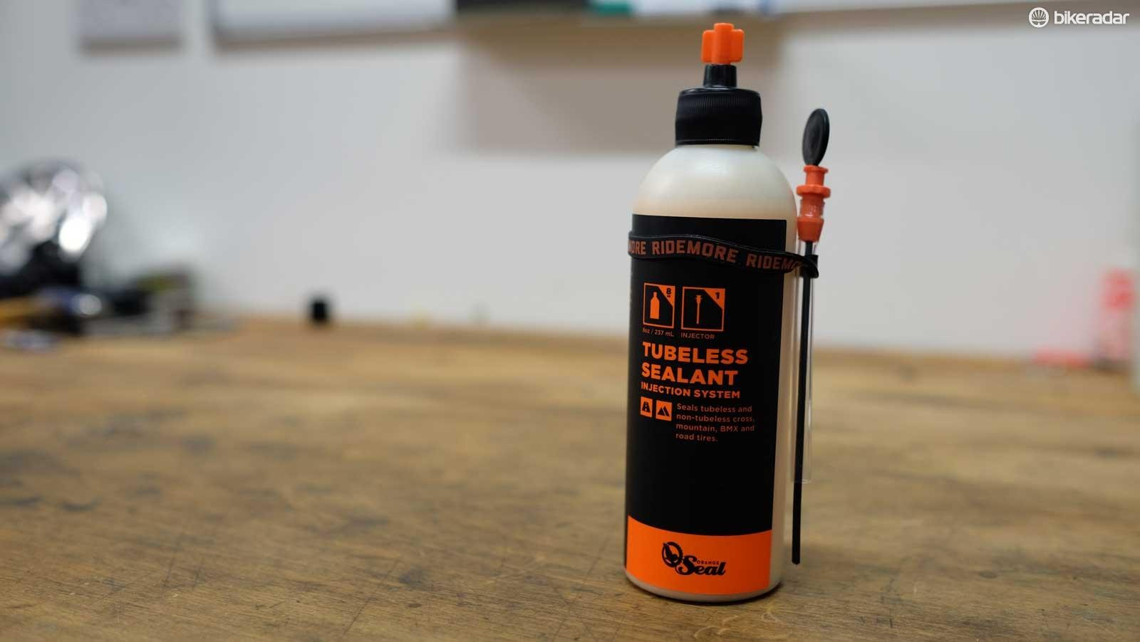 We've had good luck using Orange Seal on road tubeless tires
