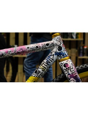 Squid Bikes owns loud and proud paint schemes. The company is also the US importer of Spray Bike paint for DIY bike customization