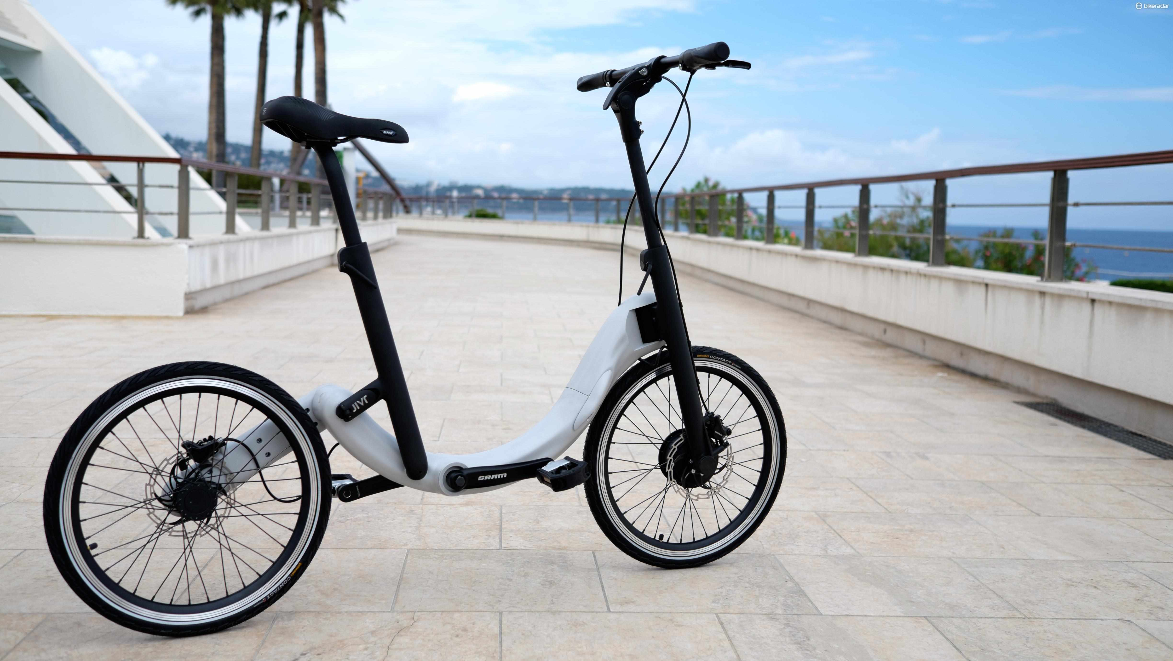 JIVR's e-bike packages its battery, motor and transmission within its folding frame