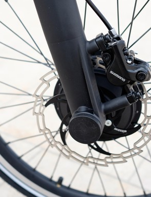 Hydraulic discs should give the JIVR a big braking advantage over most of its competition