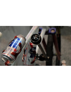 This stick shift operates the internally-geared rear hub