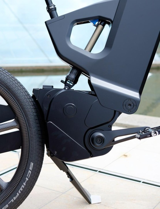 Trefecta has borrowed several components from the world of mountain biking, including the wheels, tyres, pedals, brakes and more