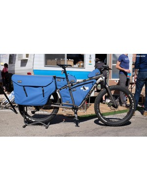 This Salsa Blackbarow with custom bags by Cedaro is ready for the long haul