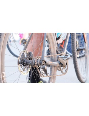 Some riders preemptively converted their bikes to singlespeeds in preparation for what could have been a very muddy race