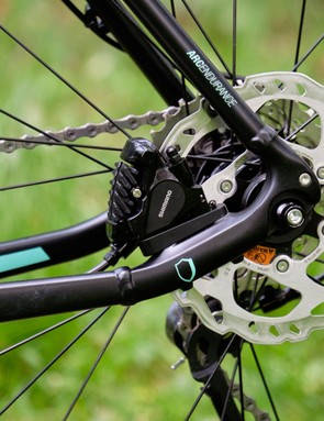 Shimano BR-RS785 brakes with 160mm rotors