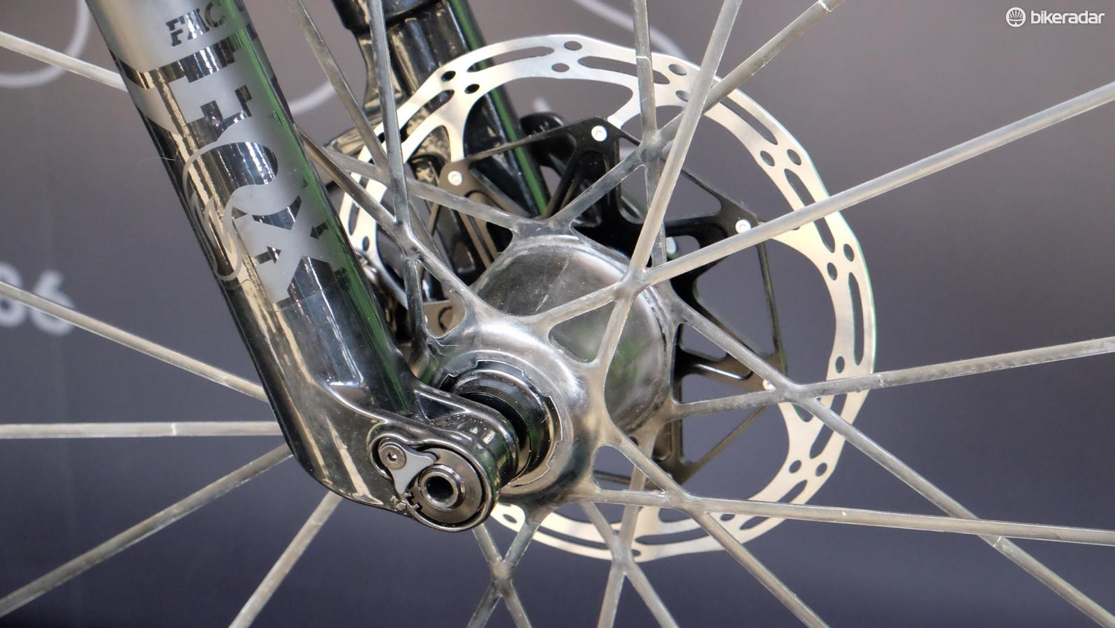 The spokes are molded into a solid structure