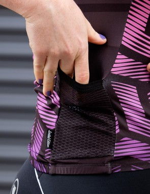 A detail of that handy side pocket
