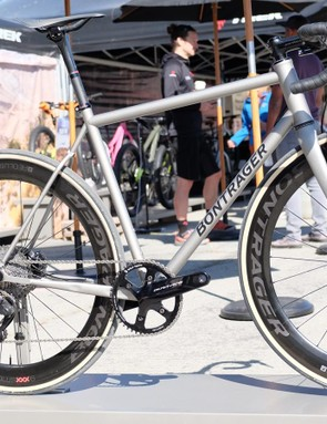This gorgeous Bontrager road bike was on display at Trek's booth