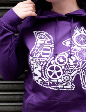 The Chain Fox hoody from Velo Sister, with 50% of profits from its sale going to charity