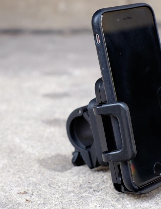 A mobile phone holder for your handlebars