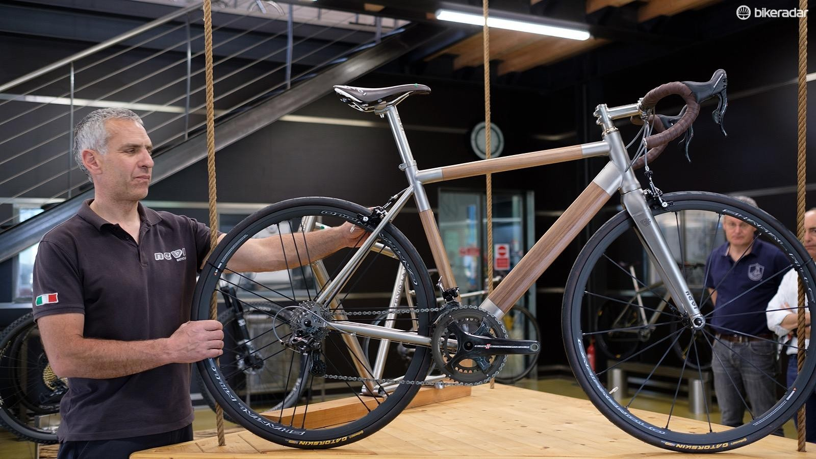 The Titanio Legno in the hands of its builder and Nevi founder Sergio Finazzi