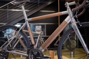 Nevi's Titanio Legno frame is based on Nevi's existing Spinas race bike