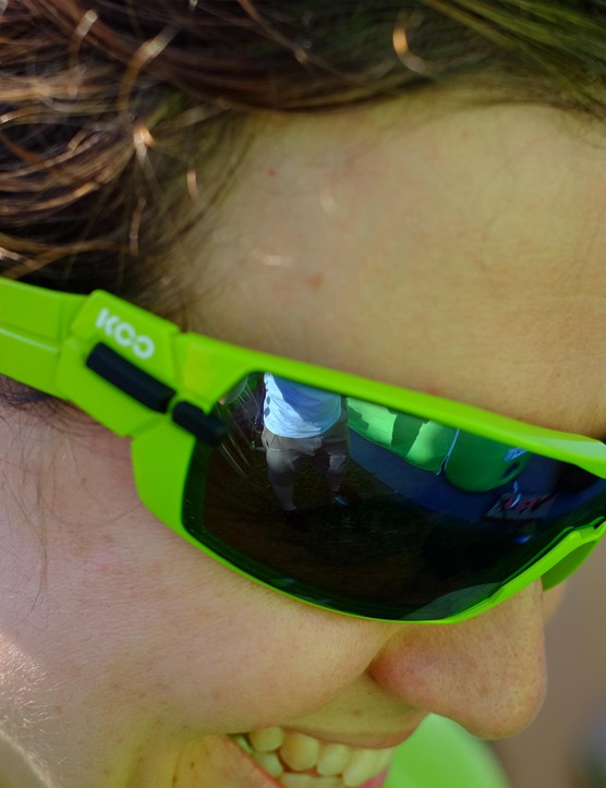 The KOO glasses have a hinge near the temple that can be used to maximise airflow