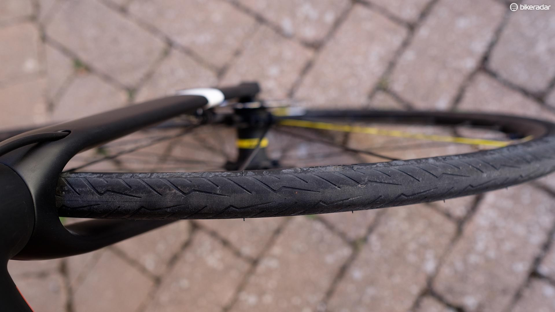 The tread pattern will looks familiar to anyone familiar with Pirelli's existing bicycle tyres