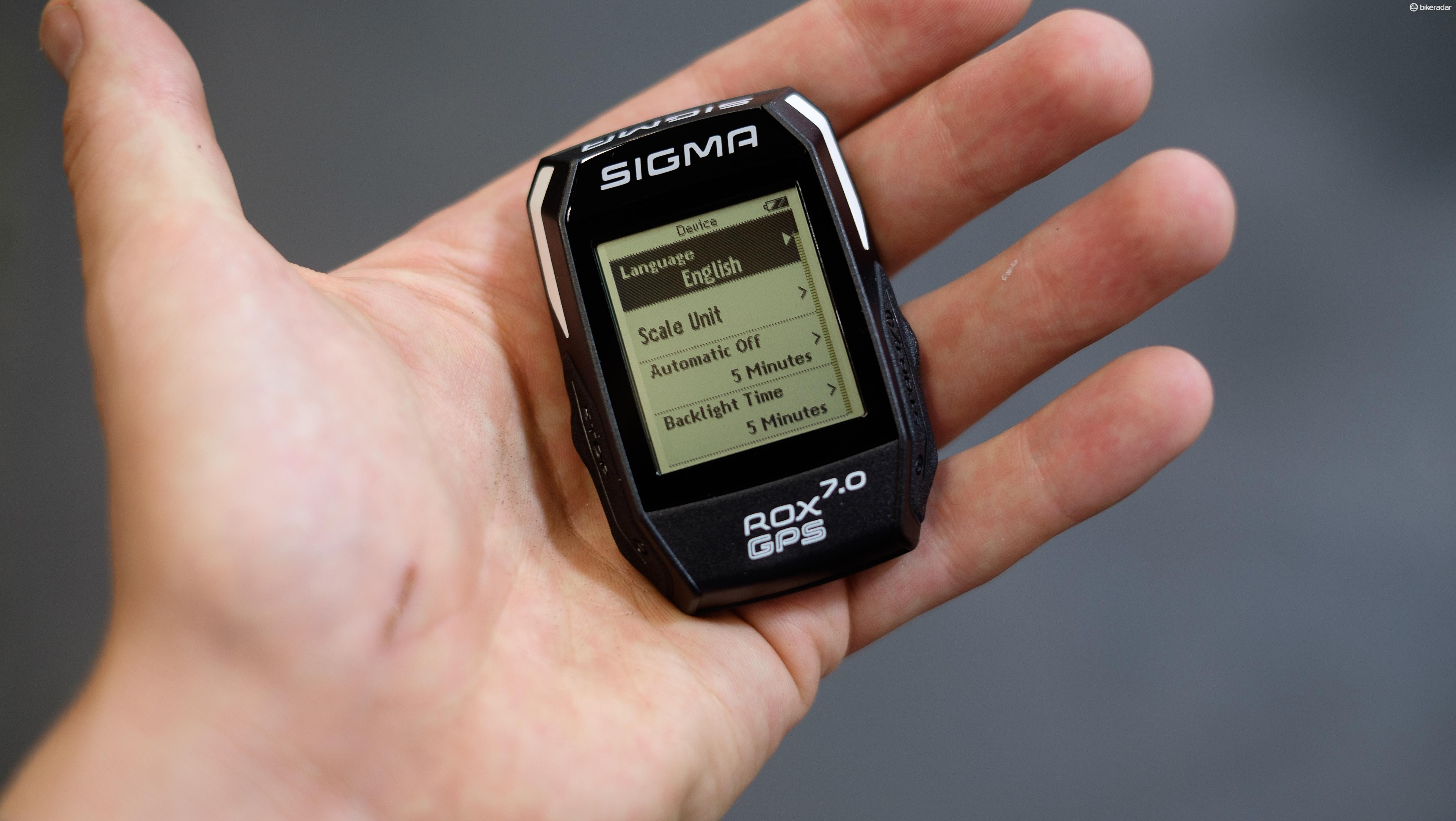 There are plenty of functions packed into the Sigma ROX GPS 7.0