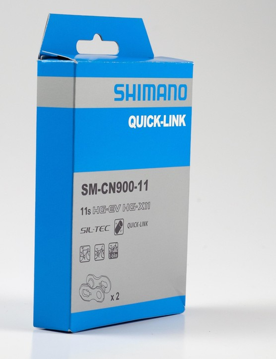 The Shimano quick-link is sold in sets of two
